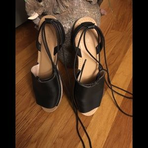 Topshop  leather flat sandals
